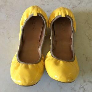 J. Crew Yellow Ballet Flats